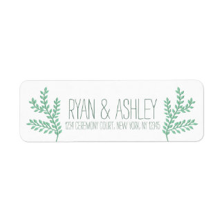 Rustic Deer Antler Return Address Label
