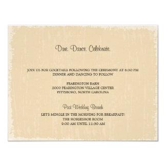 Rustic Distressed Reception Card
