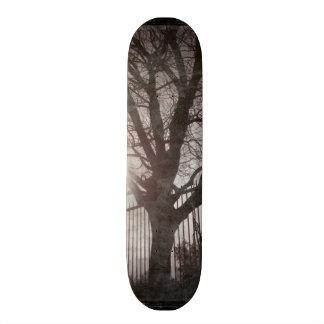 Rustic Distressed Tree Silhouette Grunge Custom Skateboard