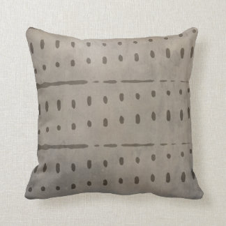 Rustic Distressed Urban Grey and Black Abstract Throw Pillow