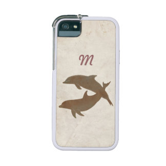 Rustic Dolphins Beach Wedding Case For iPhone 5/5S