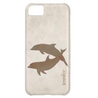 Rustic Dolphins Beach Wedding iPhone 5C Cases