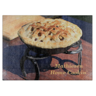 Rustic Dutch Oven Pie Personalized Cutting Board