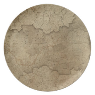 Rustic Earth Organic Textures Designer Plate