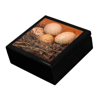 Rustic Easter eggs in nest Gift Box