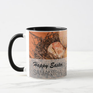 Rustic Easter eggs in nest Mug