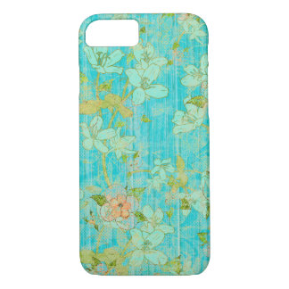 Rustic Elegance: Wood and Flowers iPhone 7 Case