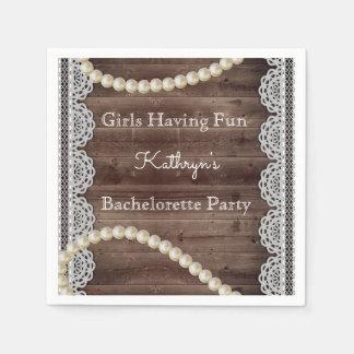 Rustic & Elegant Bachelorette Party Paper Napkins