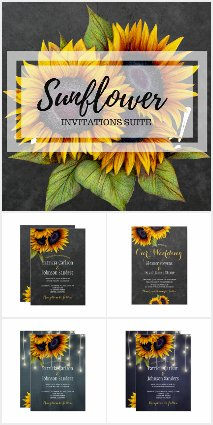 Rustic Elegant Sunflowers Collection