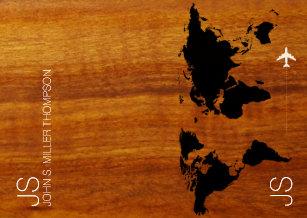 a2d8ba8c165e rustic   elegant world map on faux wood grains passport holder
