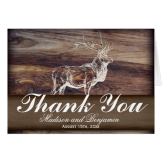 Rustic Elk Wildlife Wedding Thank You Card