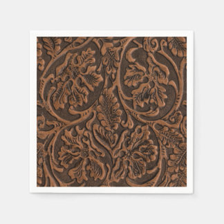 Rustic Embossed Leather Disposable Napkin