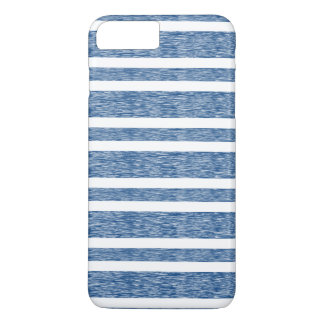 Rustic Faded Blue Stripes iPhone Case