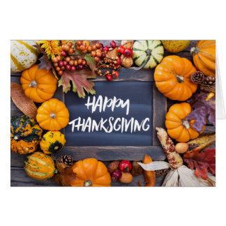Rustic Fall Autumn Harvest Thanksgiving Card
