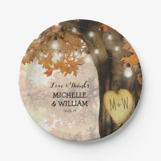 Rustic Fall Autumn Tree Wedding Collection Paper Plate