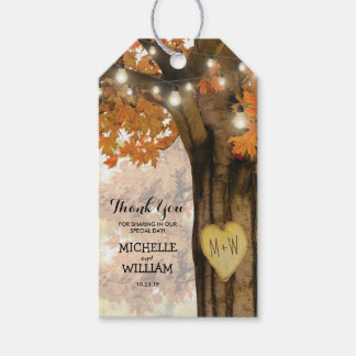 Rustic Fall Autumn Tree Wedding Favor Thank You Pack Of Gift Tags