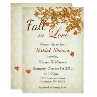 Rustic Fall in Love Bridal Shower Invitation