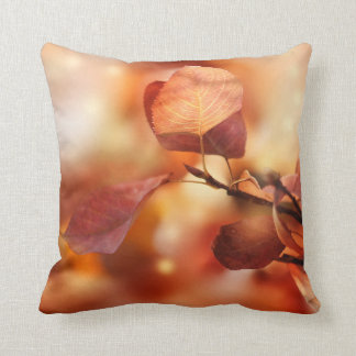 Rustic Fall Leaves Pillow