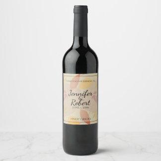 Rustic Fall Leaves Wine Label