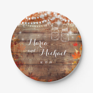 Rustic Fall Wedding Autumn Wedding Name Plates
