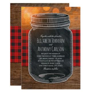 Rustic Fall Wedding Country Mason Jar Card