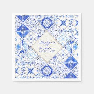 Rustic Farm Barn Elegant Wedding Watercolor Tile Paper Napkin