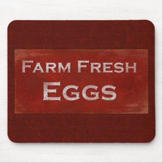 Rustic Farm Fresh Eggs Mousepad