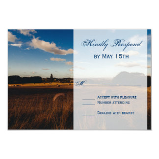 Rustic Farm Hay Bales Wedding RSVP Cards