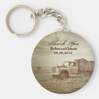 Rustic Farm Truck Western Country Wedding favor Basic Round Button Keychain