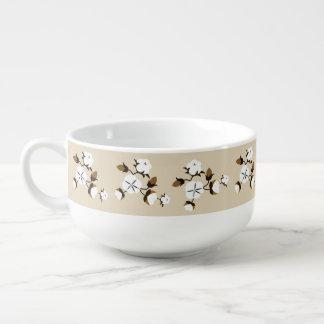 Rustic Farmhouse Cotton Flowers Soup Mug