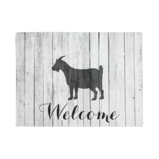 Rustic Farmhouse Goat Wood Panel Doormat