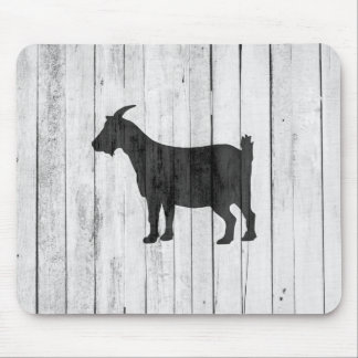 Rustic Farmhouse Goat Wood Panel Mouse Pad
