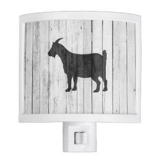 Rustic Farmhouse Goat Wood Panel Night Lights