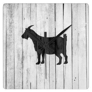 Rustic Farmhouse Goat Wood Panel Wallclock