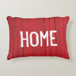 Rustic Farmhouse Home Red Barn Wood Panel Accent Pillow