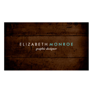 Rustic Faux Wood Business Card
