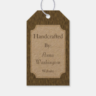Rustic Faux Wood Handcrafted Artist Gift Tag Pack Of Gift Tags