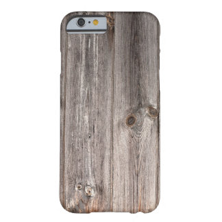 Rustic Faux Wood Texture Barely There iPhone 6 Case