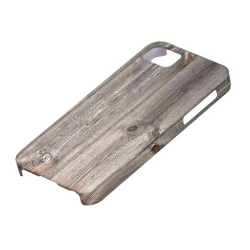 Rustic Faux Wood Texture iPhone 5 Cases