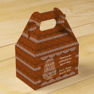 Rustic Faux Wood Wedding Favour Box (Customize