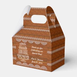 Rustic Faux Wood Wedding Favour Box (Customize Wedding Favor Boxes