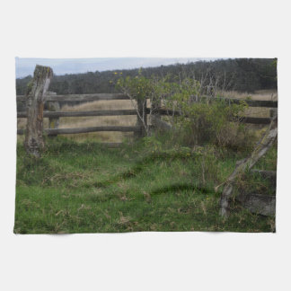 Rustic Fence Kitchen Towel