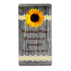 Rustic Fence & Sunflower Mini Wine Labels