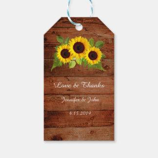 Rustic Fern Sunflowers Wedding Favor Gift Tag Pack Of Gift Tags