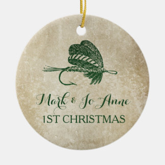 Rustic Fishing Lure Christmas Ornament