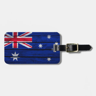 Rustic Flag of Australia Luggage Tag