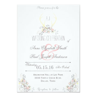 Rustic wedding invitations announcements zazzle canada for Floral wedding invitations canada