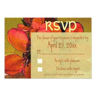 Rustic floral autumn RSVP wedding Custom Announcement