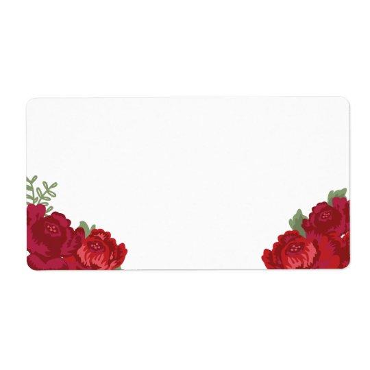 Rustic Floral Blank Large Address Labels