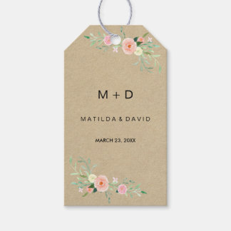 Rustic Floral Boho Wedding Gift Tags